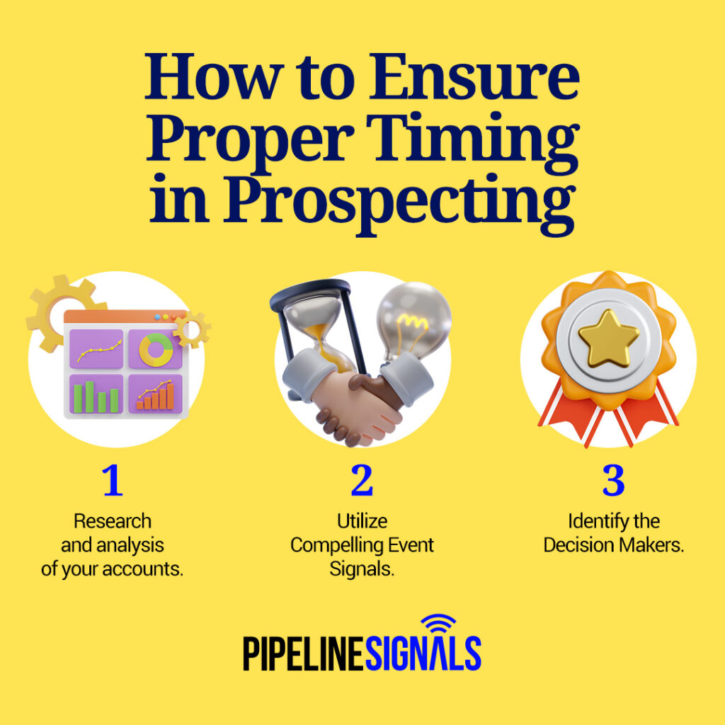 proper timing with prospecting